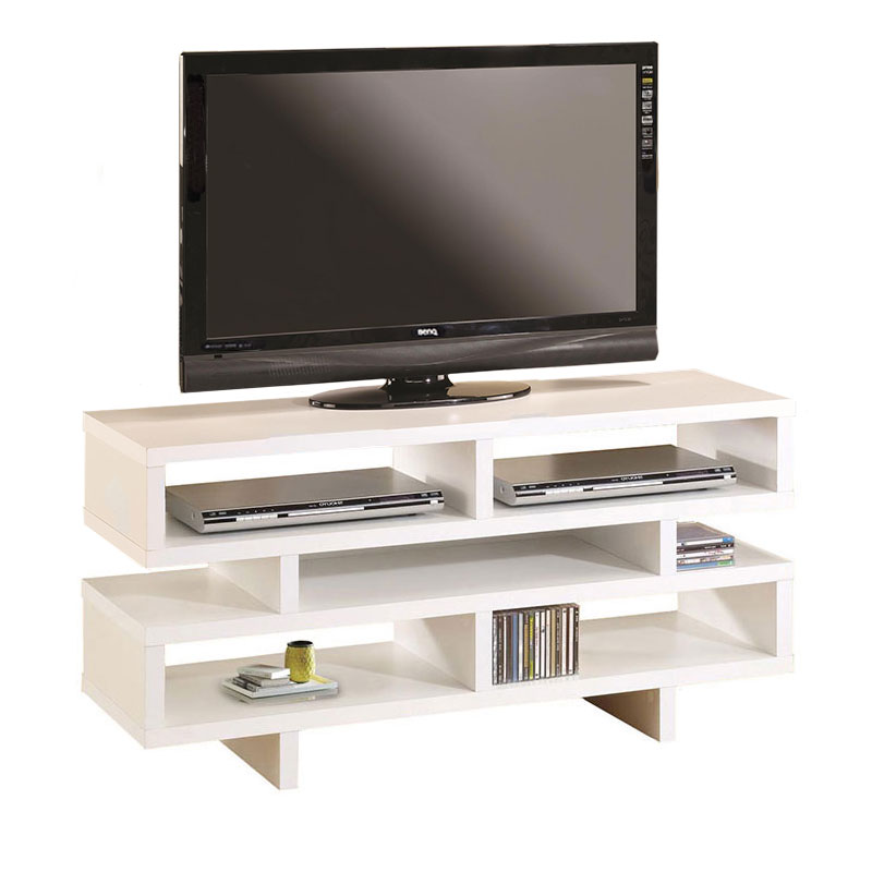 Modern Entertainment Centers   Derby White TV Stand