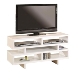 Modern Entertainment Centers - Derby White TV Stand