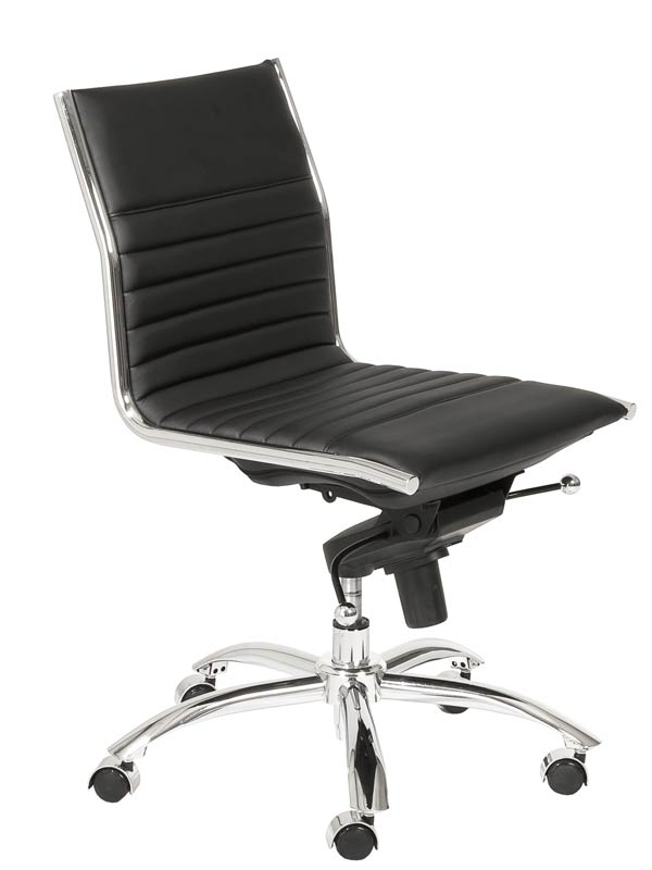 Drake low back armless office chair eurway furniture for Armless office chairs