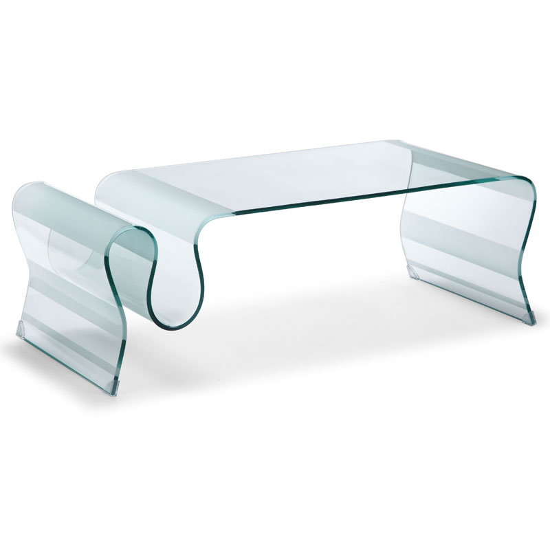 Discovery Modern Bent Glass Cocktail Table