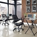 Ede Modern Office Chair in Black - Room
