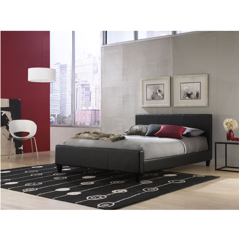 edinburgh modern platform bed black