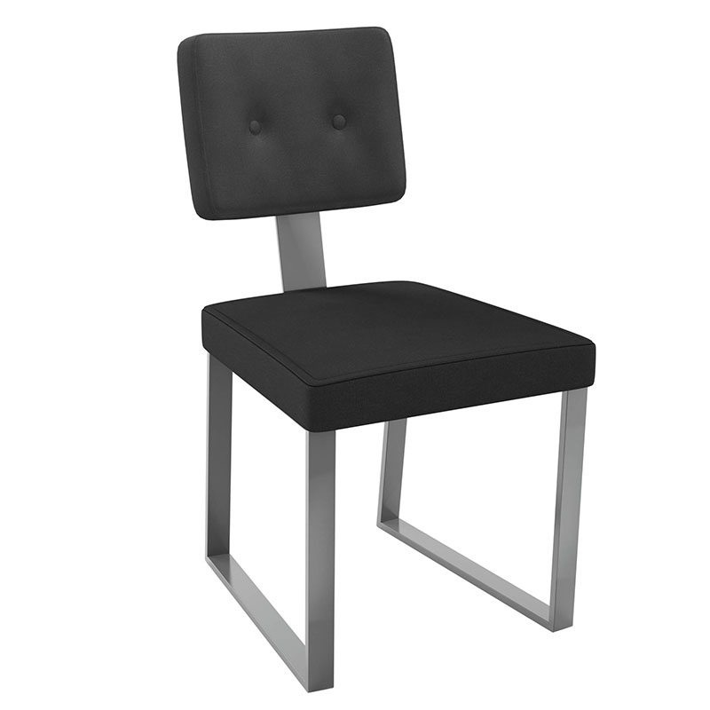 Everett Dining Chair in Magnetite and Penguin