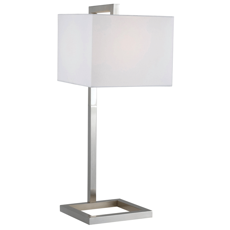 Nice Falkirk Brushed Steel Modern Table Lamp