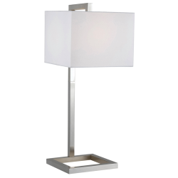 Falkirk Brushed Steel Modern Table Lamp