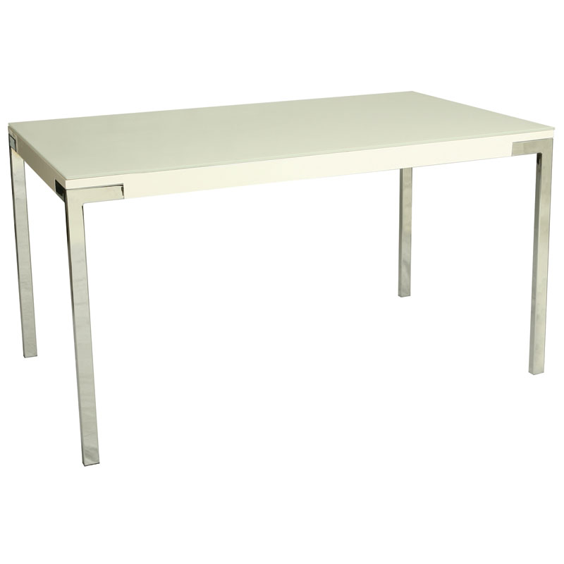 Fairbanks Modern White Dining Table