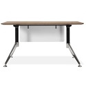 Gothenburg 55 Inch Modern Walnut Desk