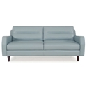 Ivy Modern Sofa in Blue Leather