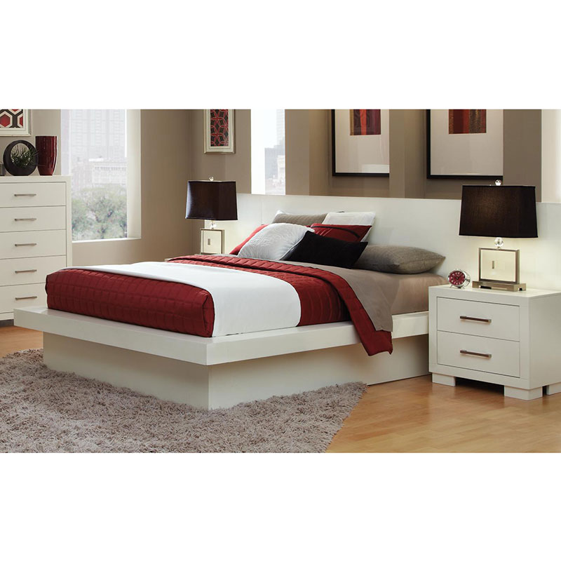 Jess Platform Bed in White