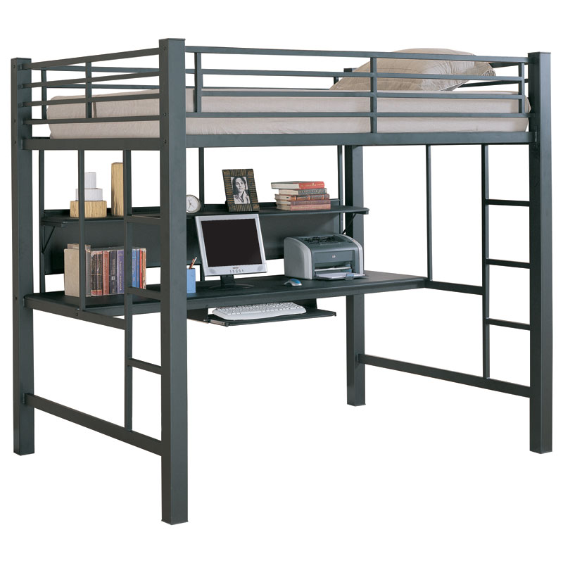 Karlstad Modern Loft Bed Desk Eurway Furniture