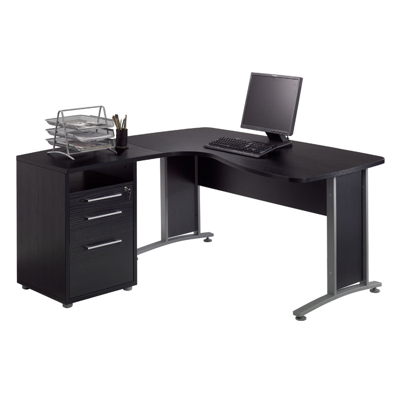 Prague L Shaped Desk File Modern Desks Eurway