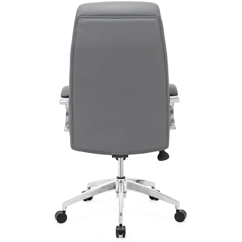 executive home office furniture uk chair with shiatsu massager leather reviews back view