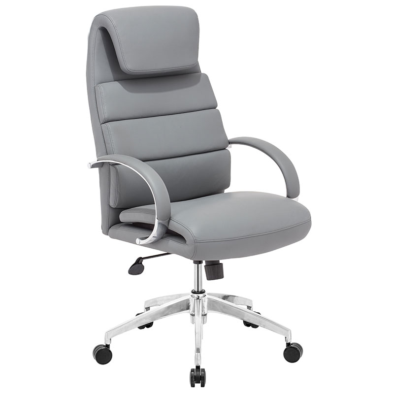 Simple White Modern Desk Chair Executive Office To Design Decorating