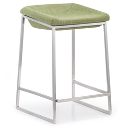 laval counter stool in green