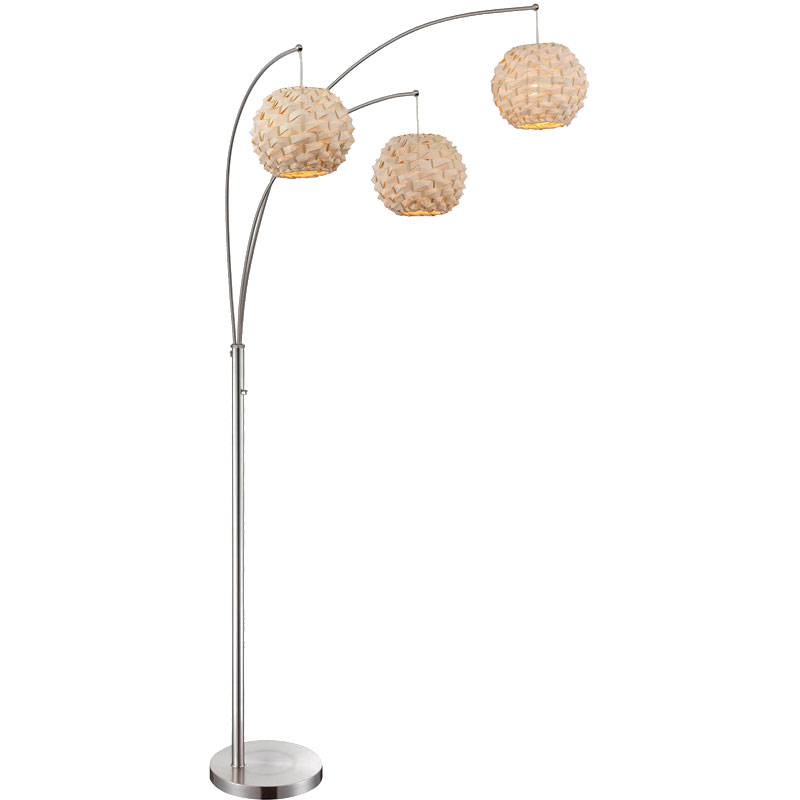Lacroix 3 light modern floor lamp eurway furniture call to order lacroix 3 light modern floor lamp mozeypictures Choice Image