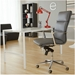 leonard high back office chair in gray - room setting