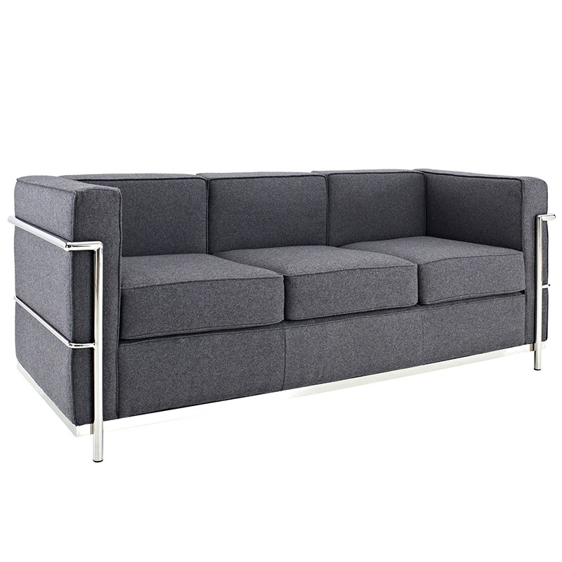 Awesome Call To Order · Leigh Wool Modern Sofa In Dark Gray