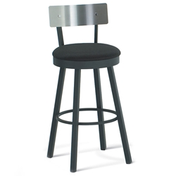 Lennon Modern Bar Stool Stainless Backrest