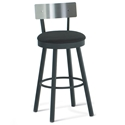 Lauren Modern Bar Stool Stainless Backrest by Amisco