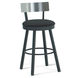 Lennon Modern Counter Stool w/ Stainless Backrest