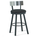 Lauren Modern Counter Stool w/ Stainless Backrest by Amisco