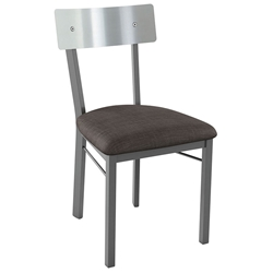 Lauren Modern Dining Chair - Stainless Backrest by Amisco