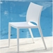 leon white outdoor dining chair