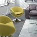 Liege Lounge Chair in Pistachio Green