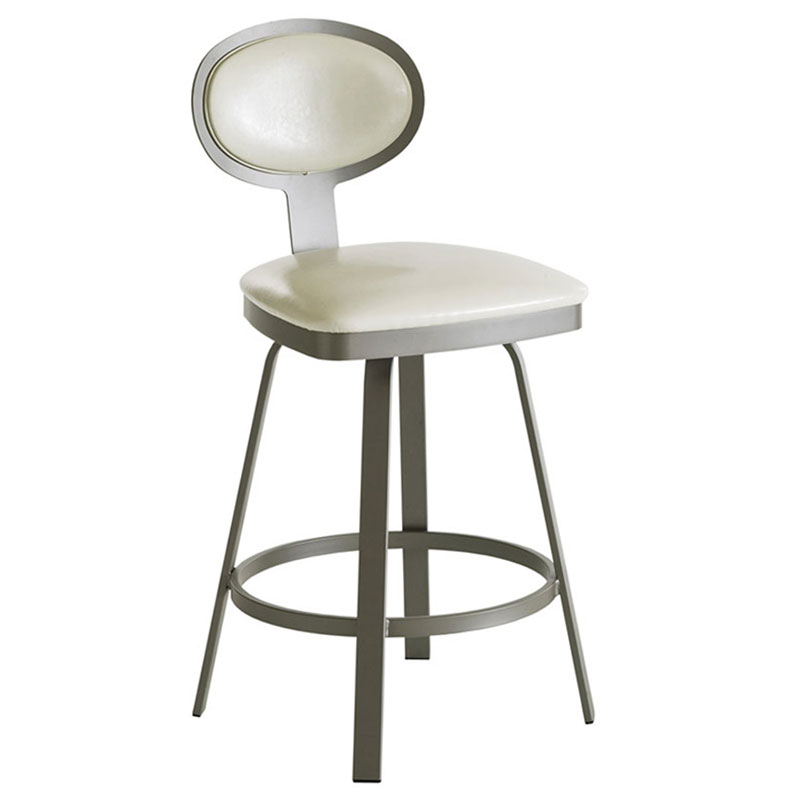 Margate Bar Stool in Titanium and Eggshell