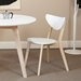 metz modern dining chair and round table