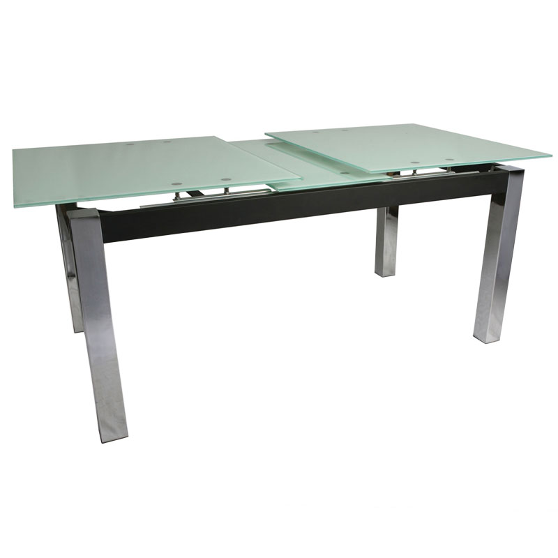 Madison Modern Frosted Glass Extension Table