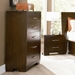 Jess Contemporary Nightstand in Cappuccino