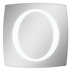 o lighted contemporary mirror
