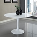 Odyssey White 47 Inch Fiberglass Dining Table