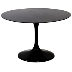 odyssey 40 inch modern round black dining table