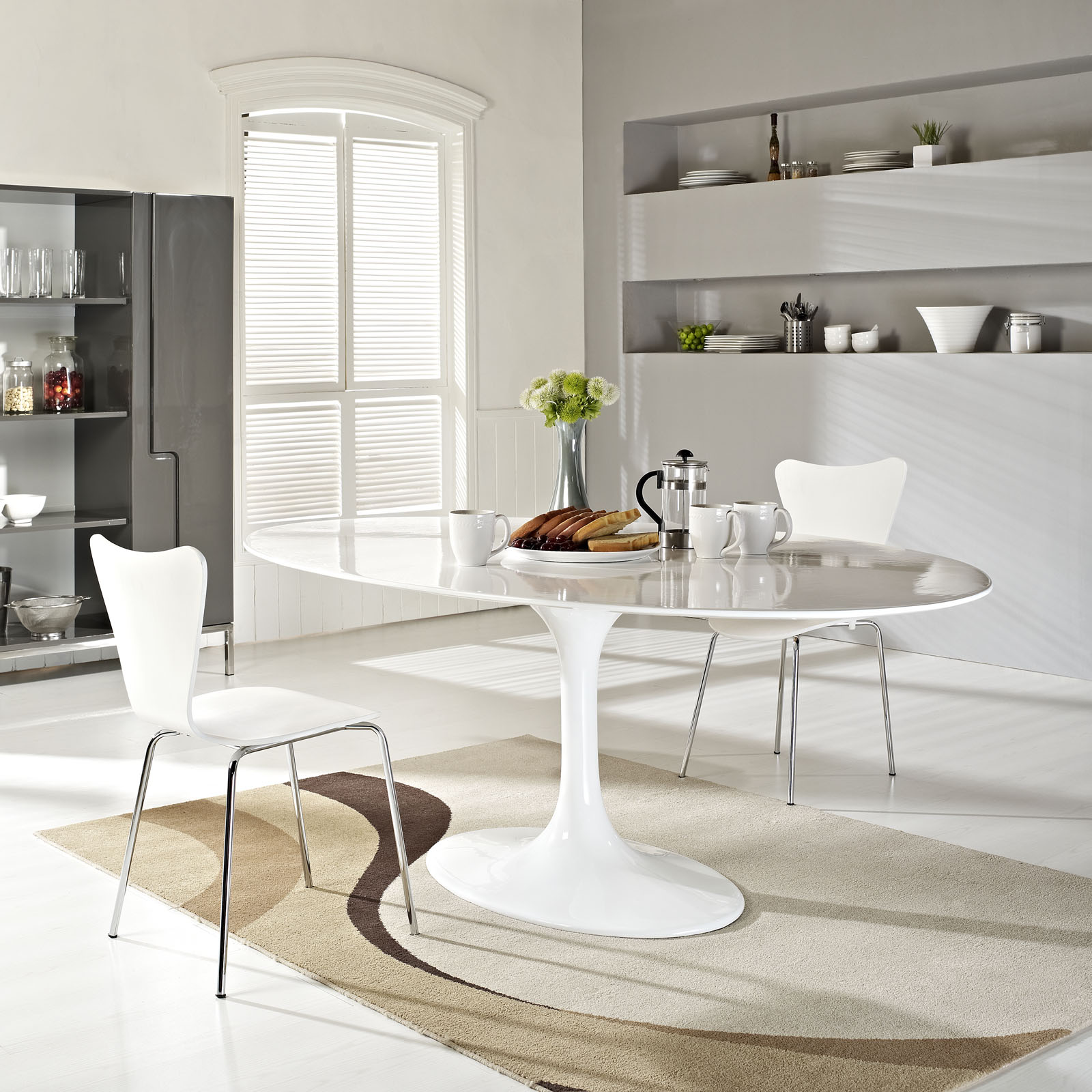 Odyssey Oval Dining Table; Odyssey Modern Oval Dining Table