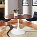 odyssey round 47 inch walnut dining table - room view