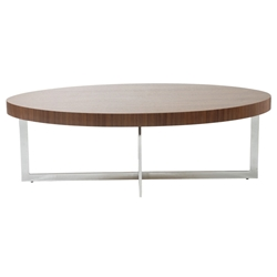 Contemporary Coffee Tables Olivander Walnut Tail Table