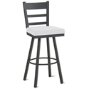 Opus Bar Stool in Black Coral and Spark by Amisco