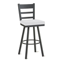 Opus Counter Stool in Black Coral and Spark by Amisco