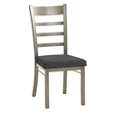 Owen Dining Chair in Titanium and Onyx by Amisco