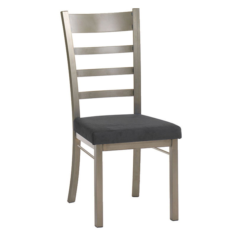 Opus Dining Chair in Titanium and Onyx by Amisco