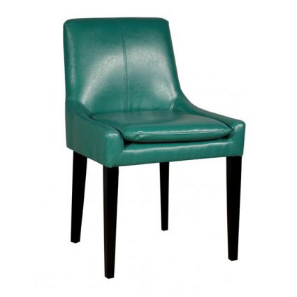 Kd dining chair in turquoise modern dining chairs eurway - Turquoise upholstered dining chair ...