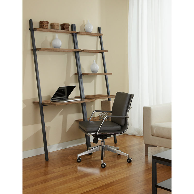 Paige Leaning Desk Bookcase