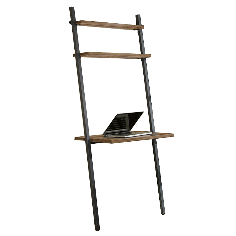 Call To Order Paige Contemporary Leaning Desk In Walnut