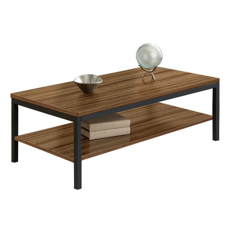 Paige Contemporary Rectangular Cocktail Table in Walnut