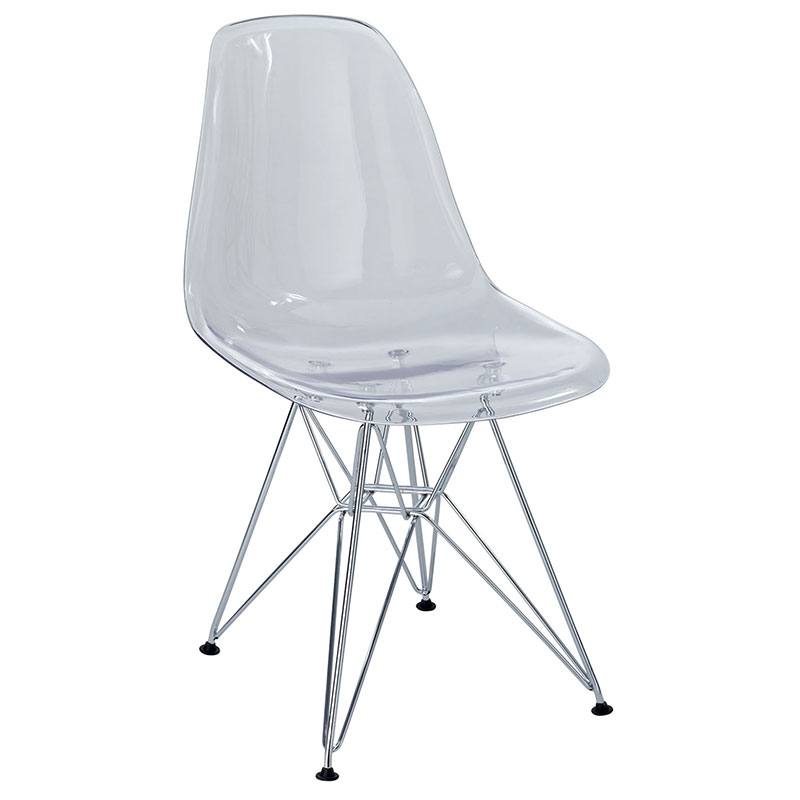 pasadena clear modern side chair