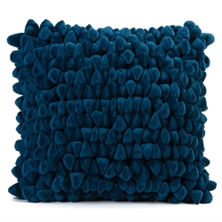Pebble Chamois Pillow in Moroccan Blue