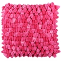Pebble Chamois Modern Pillow in Pink