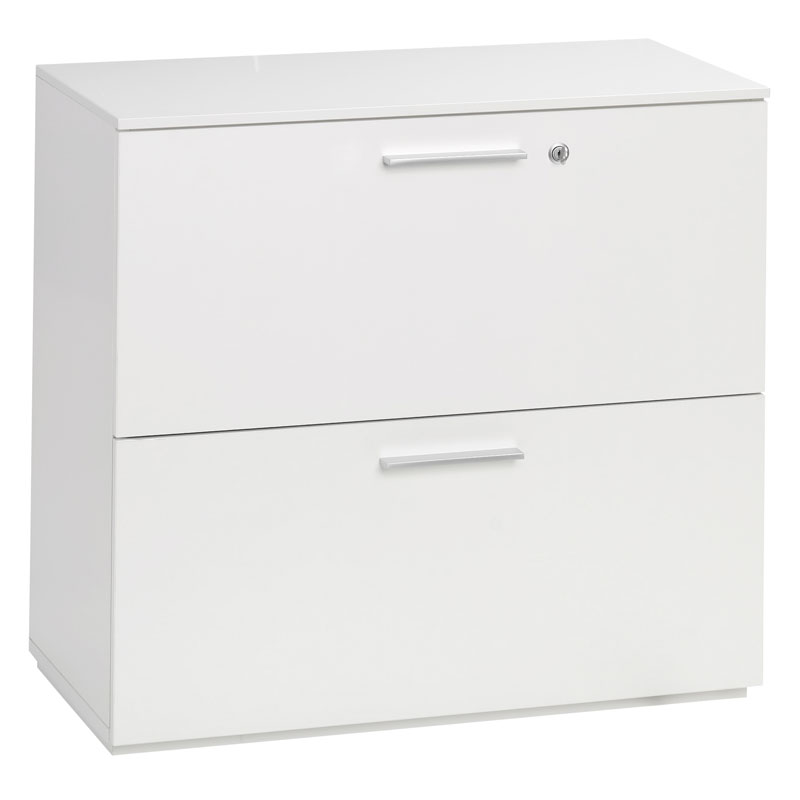 White Lacquer Lateral File Cabinet Cabinets Decorating Ideas